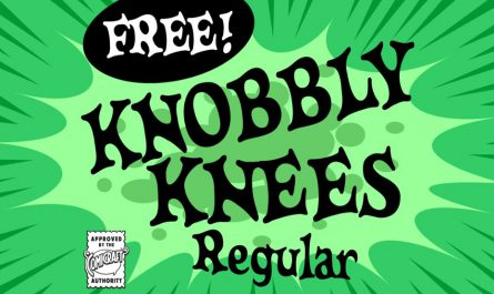 CC Knobbly Knees Font Family Free Download