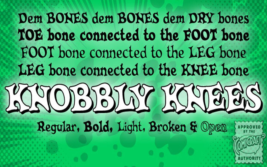 CC Knobbly Knees Font Free Download