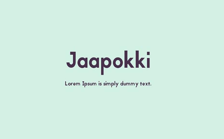 Jaapokki Font Family Free Download