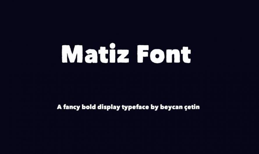 Matiz Font Free Download