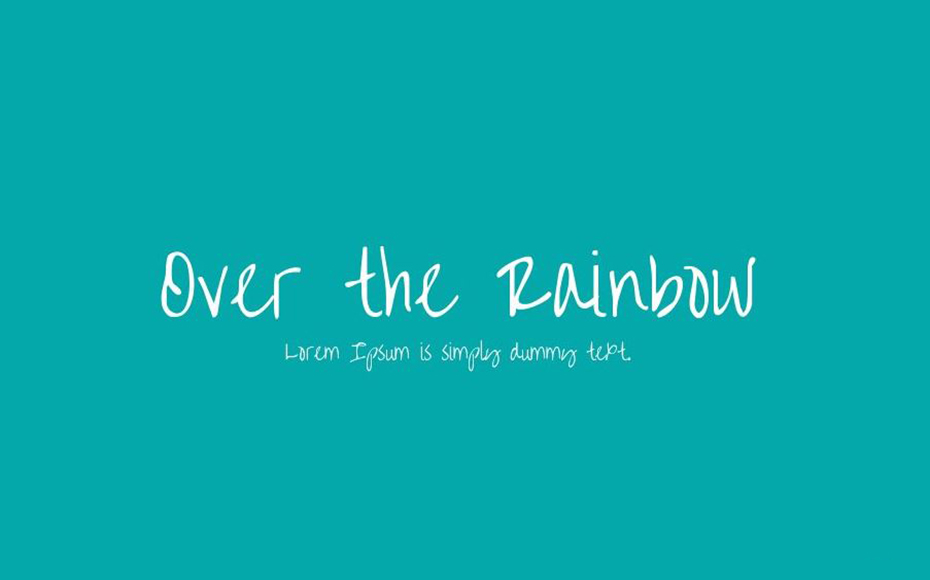 Over The Rainbow Font Family Free Download