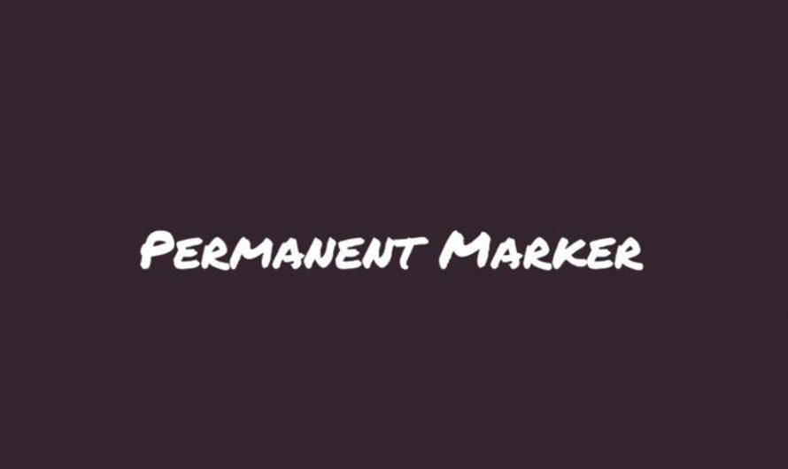 Permanent Marker Font Free Download