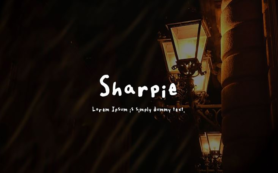 Sharpie Font Family Free Download