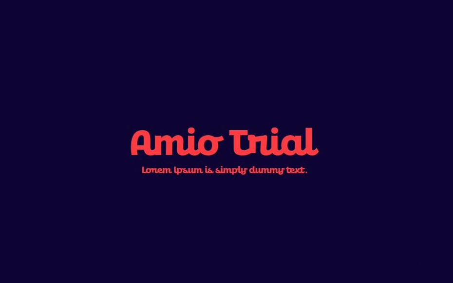 Amio Trial Font Family Free Download