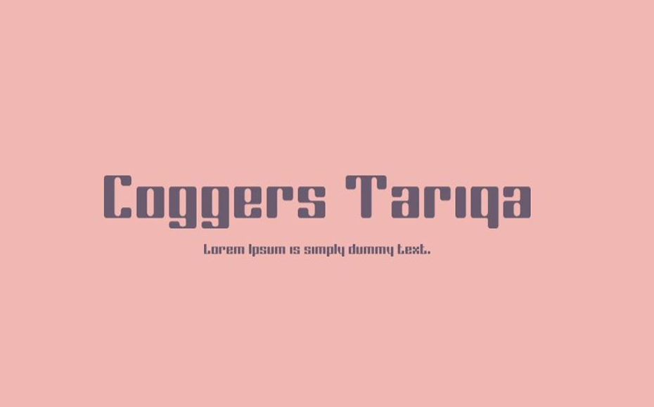 Coggers Tariqa Font Family Free Download