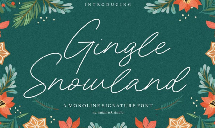 Gingle Snowland Font Free Download