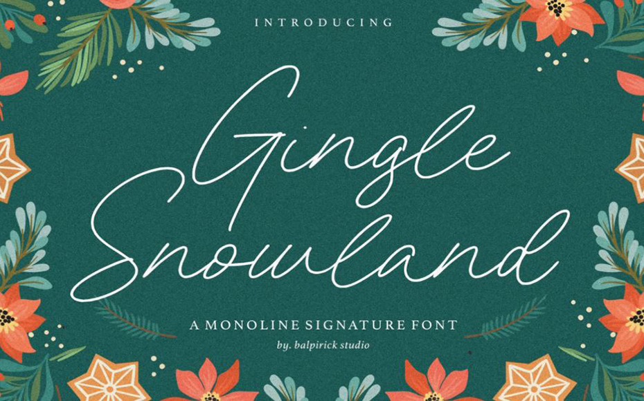 Gingle Snowland Font Family Free Download