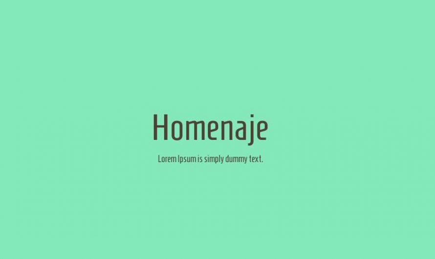 Homenaje Font Free Download