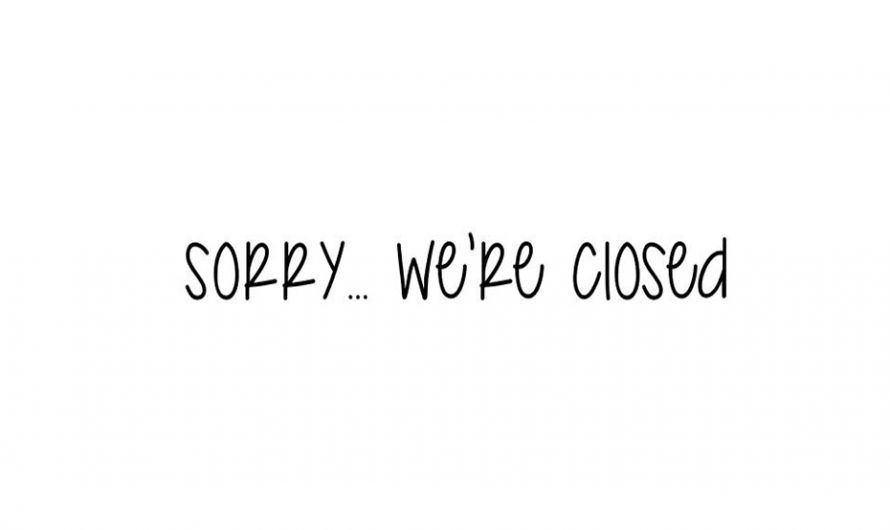 Sorry… We're Closed Font Free Download