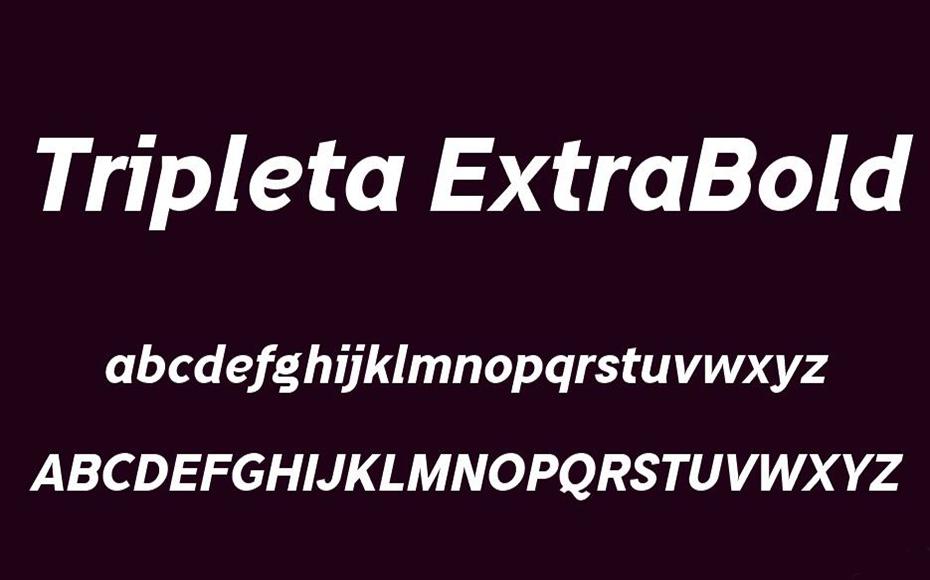 Tripleta Font Free Download