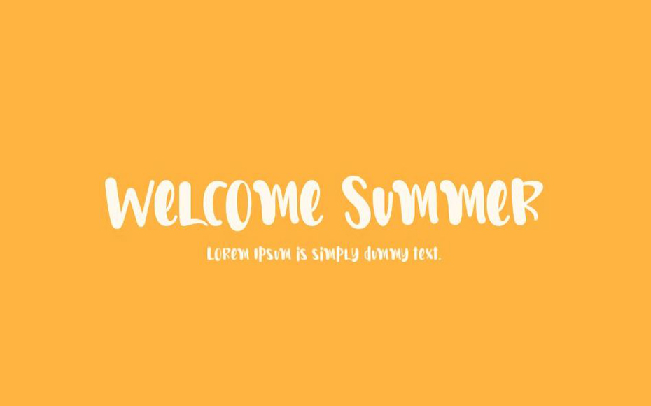 Welcome Summer Font Family Free Download