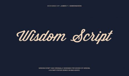 Wisdom Script Font Family Free Download