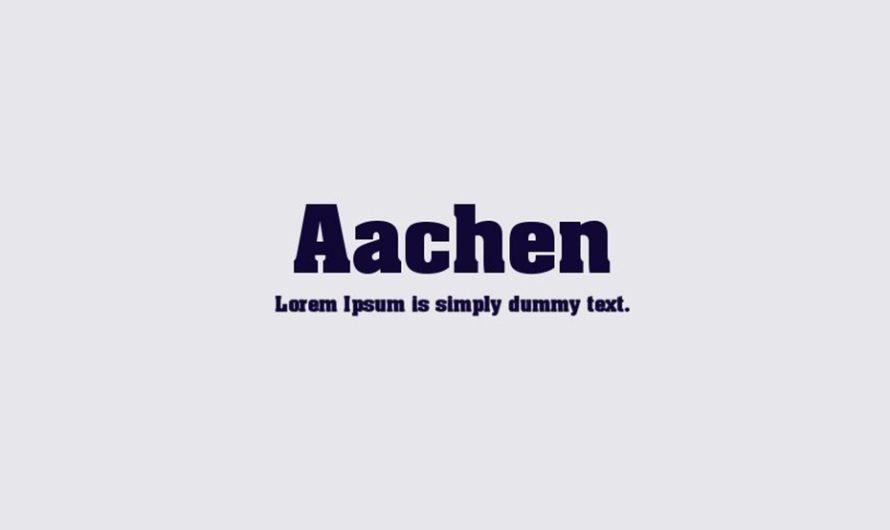 Aachen Font Free Download