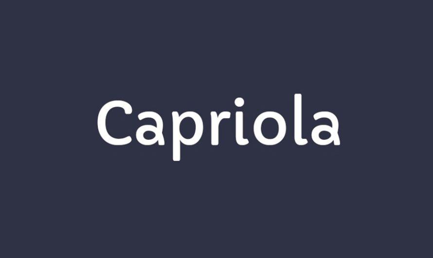 Capriola Font Free Download