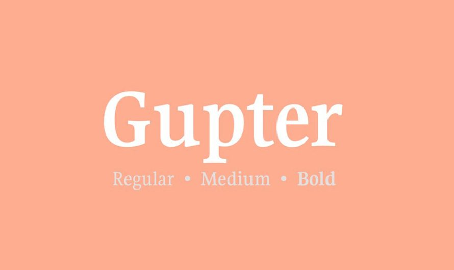 Gupter Font Free Download