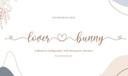 Lover Bunny Script Font Family Free Download