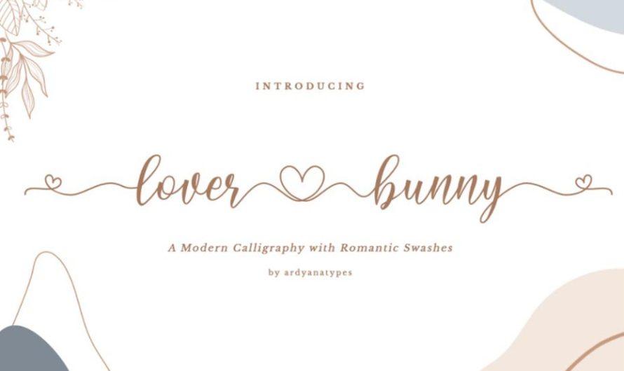 Lover Bunny Script Font Free Download