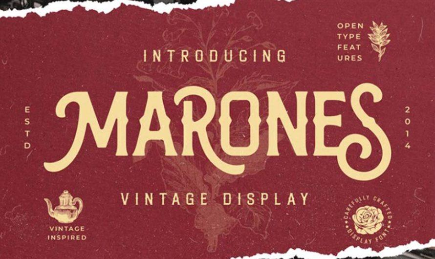 Marones Display Font Free Download
