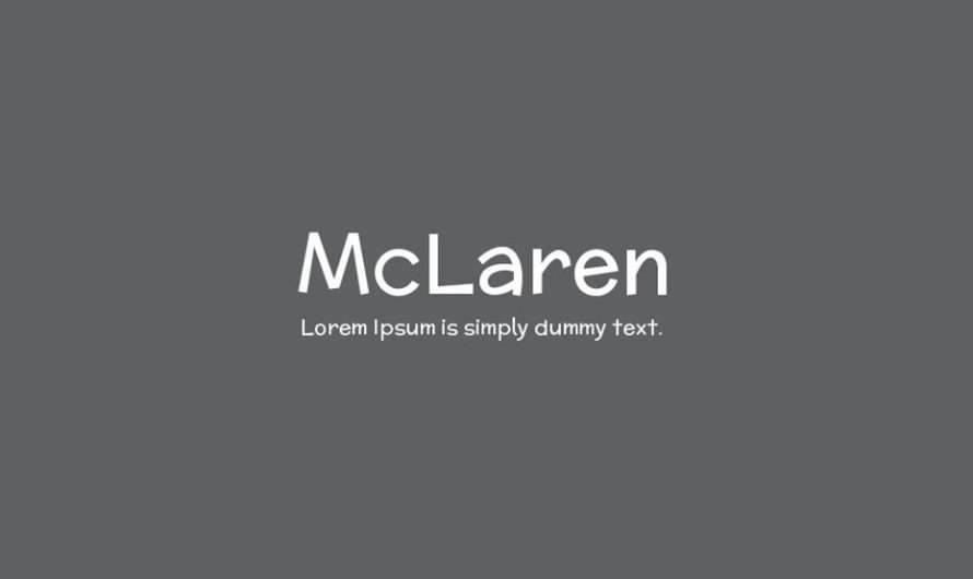 McLaren Font Free Download